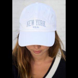 Brandy Melville White Katherine New York hat cap